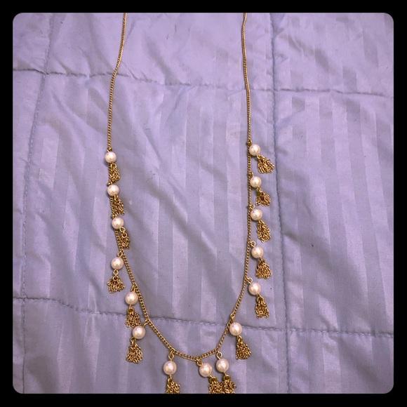 J. Crew Jewelry - J. Crew Pearl Tassel Necklace